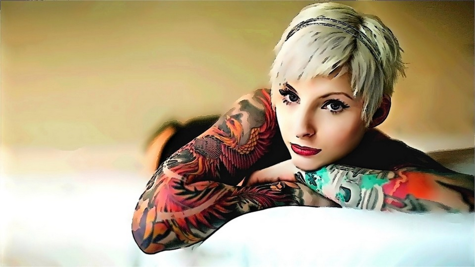 Girls With Tattoo Wallpaper