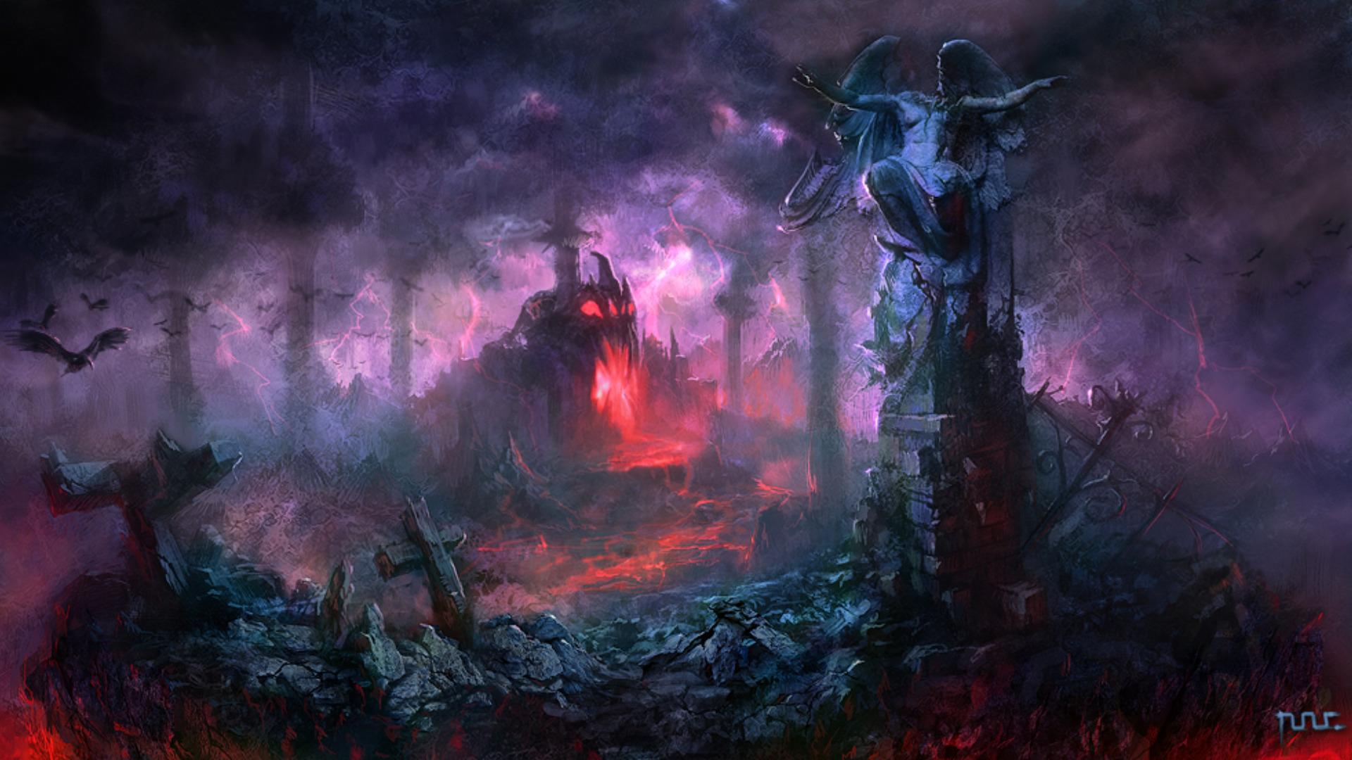 evil landscape background - photo #8