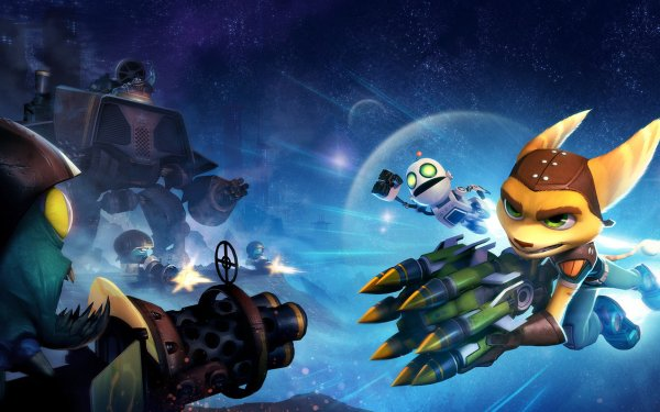 Video Game Ratchet & Clank: Full Frontal Assault Ratchet & Clank HD Wallpaper   Background Image