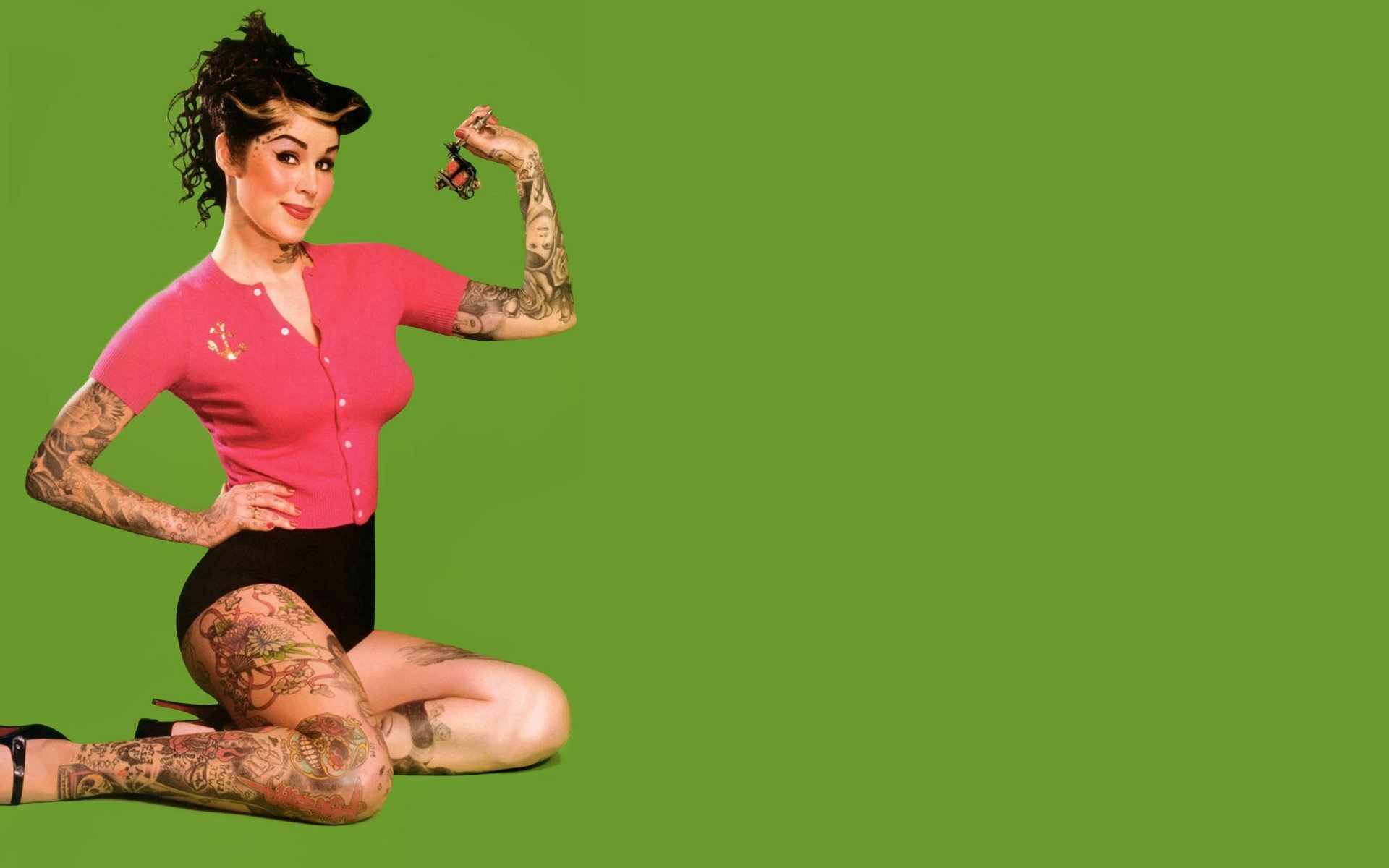 Pin By Mark On Hd Wallpapers: Kat Von D Full HD Wallpaper And Background Image