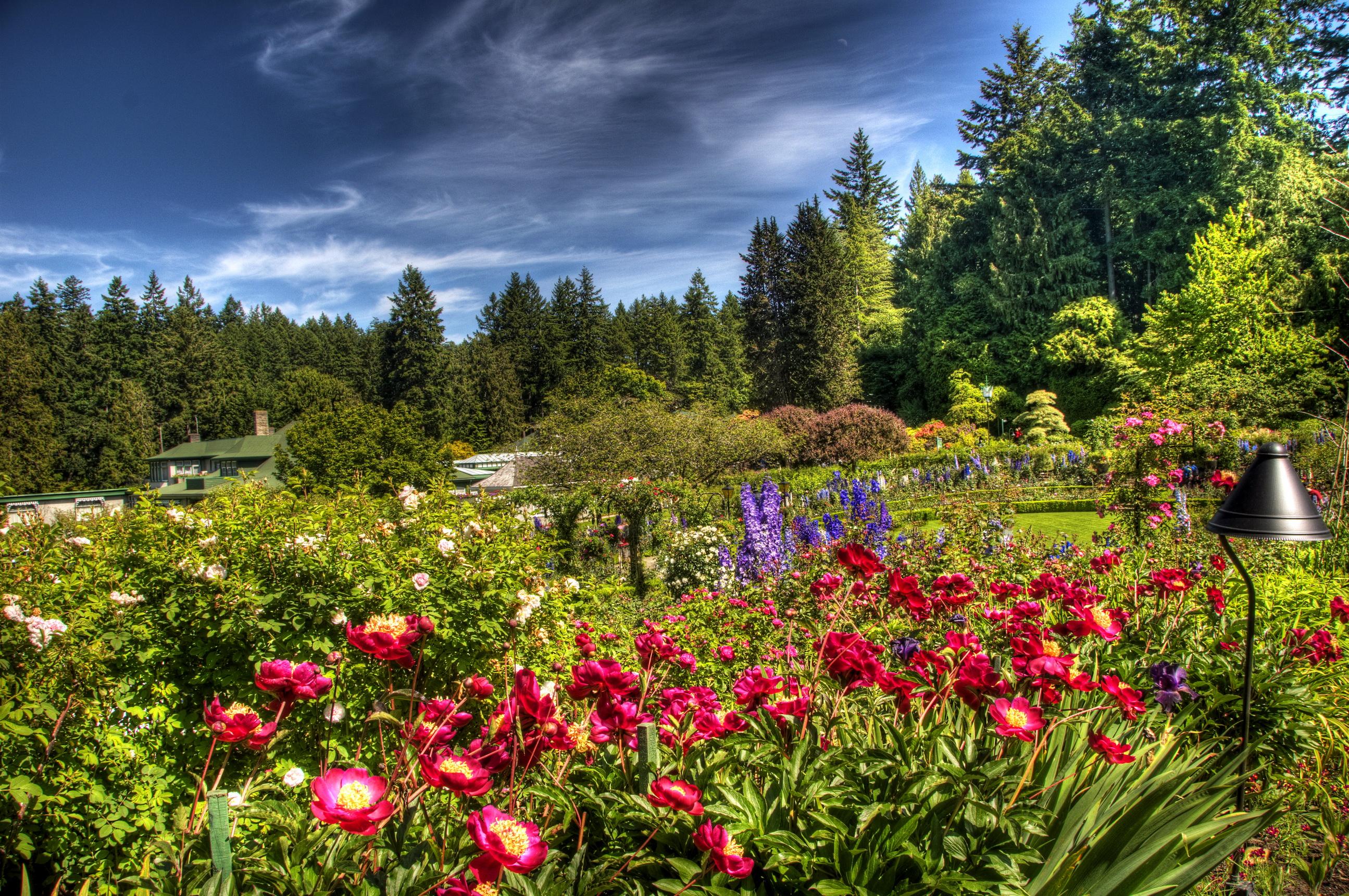 Butchart gardens victoria canada full hd wallpaper and - Hacer un jardin ...