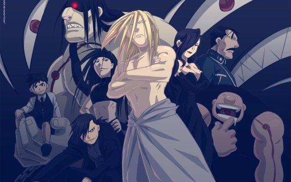 Anime FullMetal Alchemist Fullmetal Alchemist Gluttony Sloth Greed Lust Pride Father Envy Wrath HD Wallpaper | Background Image