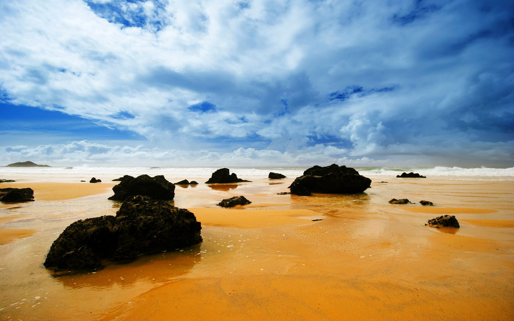 Earth - Beach  Photography Landscape Sky Cloud Rock Tide Sand Ocean Wave Wallpaper