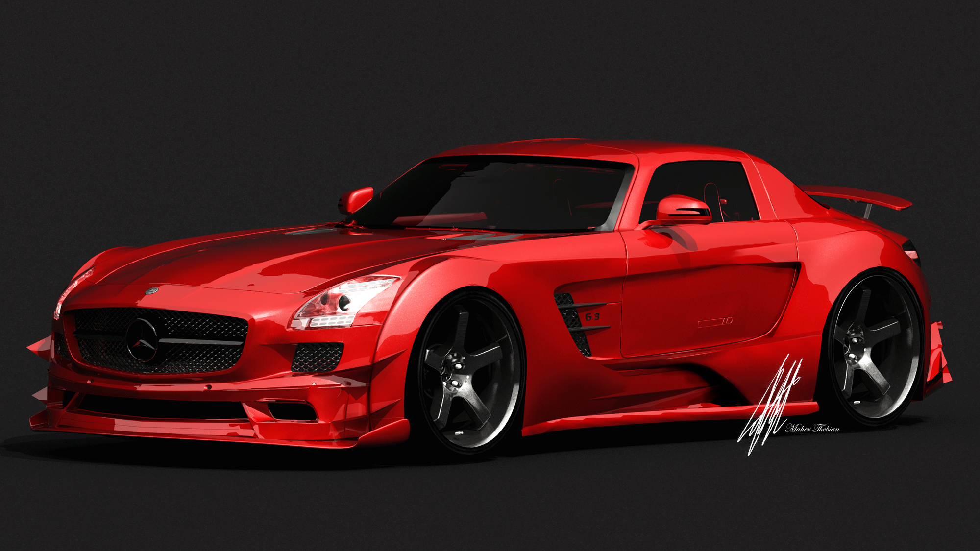 SLS BLACK SERIES HD Wallpaper