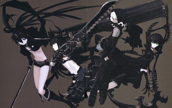 Anime Black Rock Shooter Dead Master Black Gold Saw Strength HD Wallpaper | Background Image