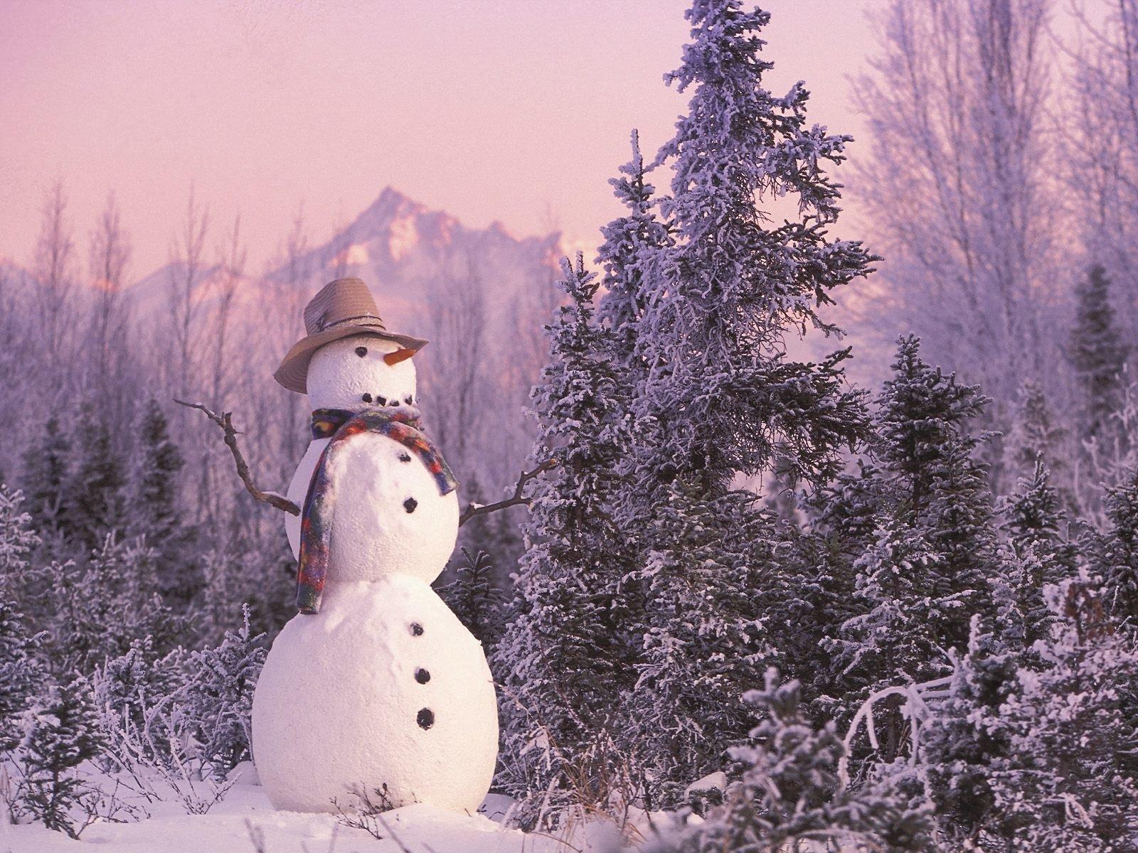 Photography - Snowman  Winter Wallpaper
