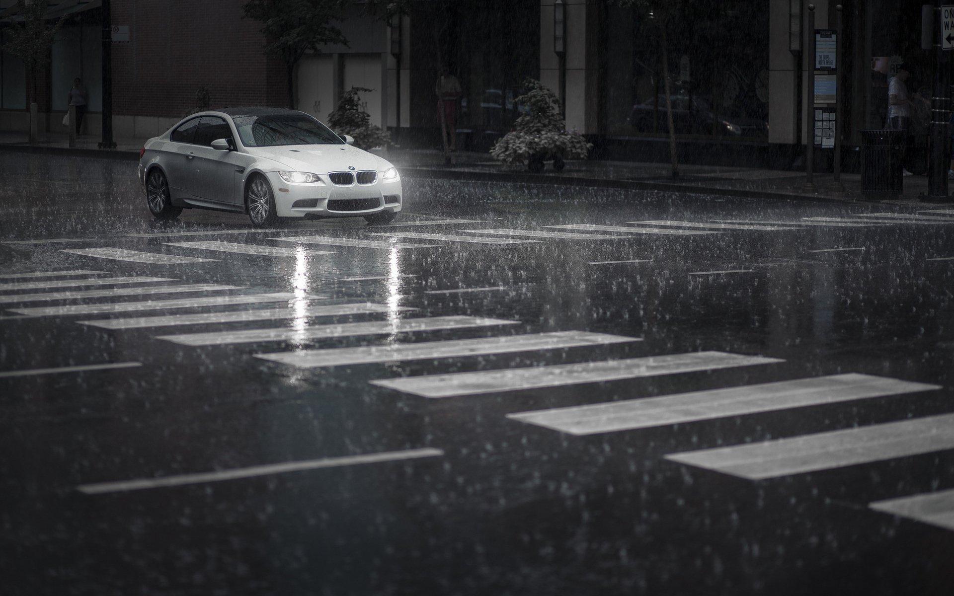 Photography - Rain  BMW Wallpaper