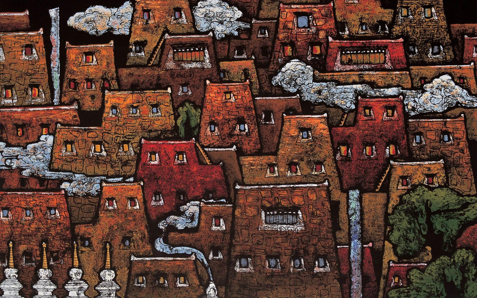 xiangba (tibet woodcut) hd wallpaper | background image | 1920x1200