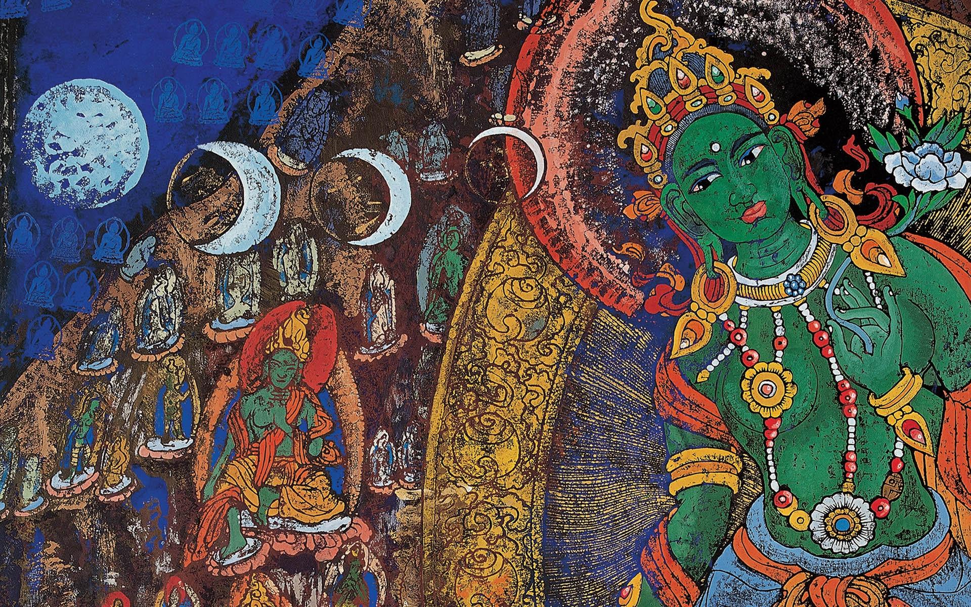 Wall Painting Of Buddha