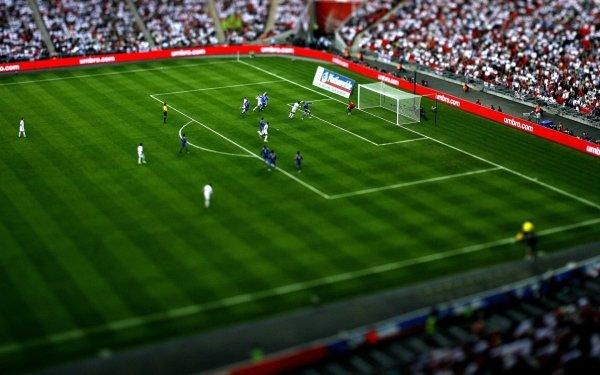 Sports Soccer Tilt Shift HD Wallpaper | Background Image