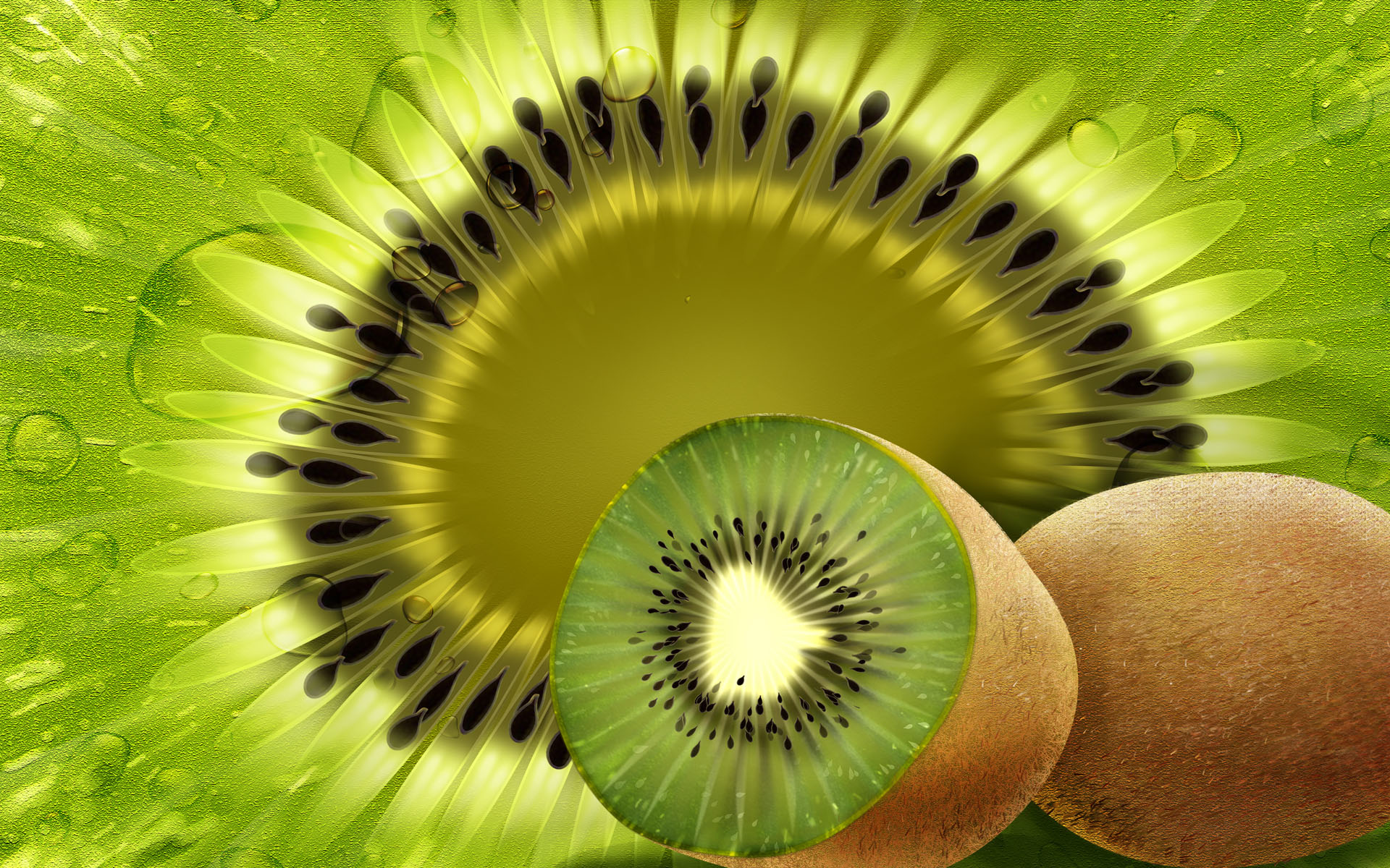 Food - Kiwi  Wallpaper