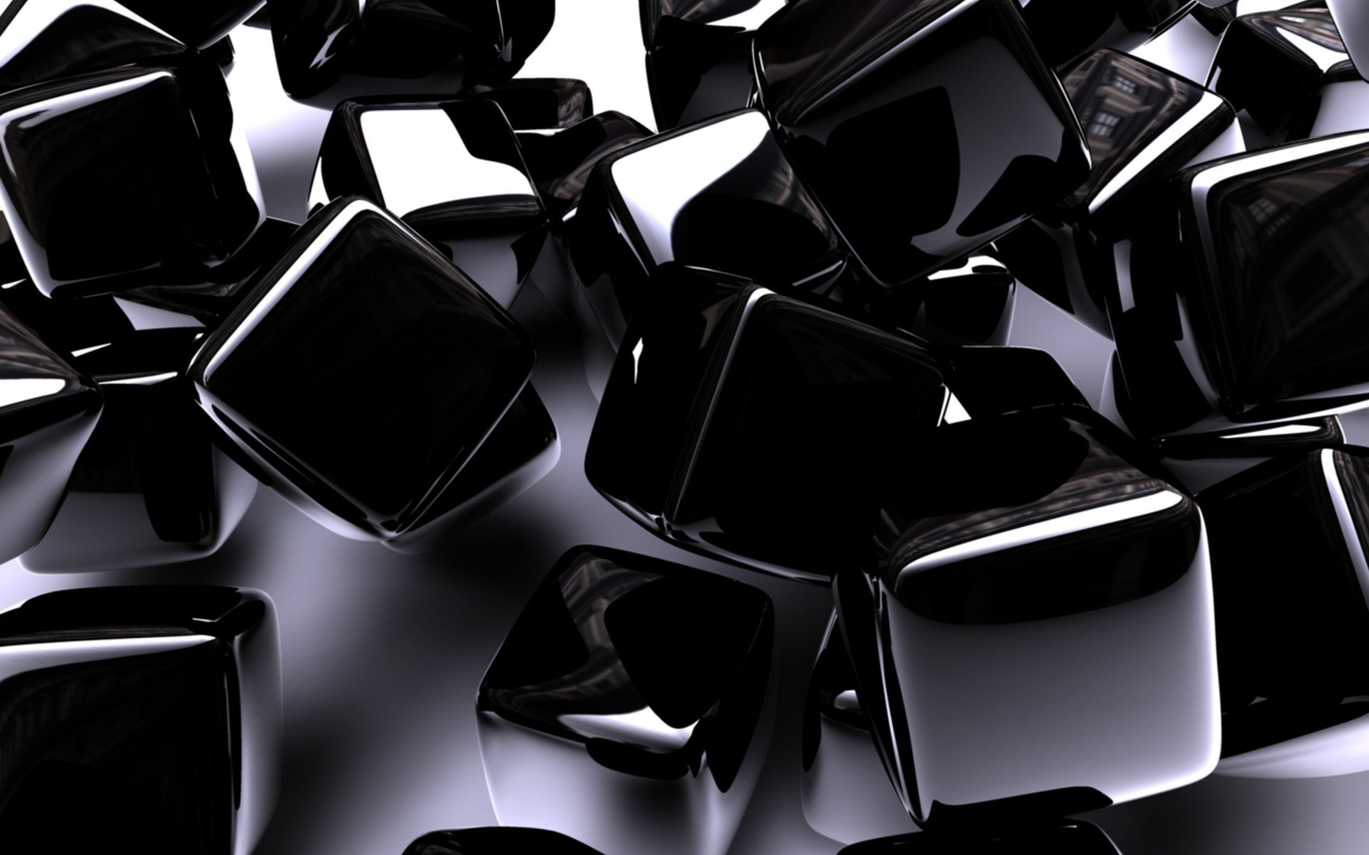 CGI - Cube  Abstract Digital CGI 3D Wallpaper