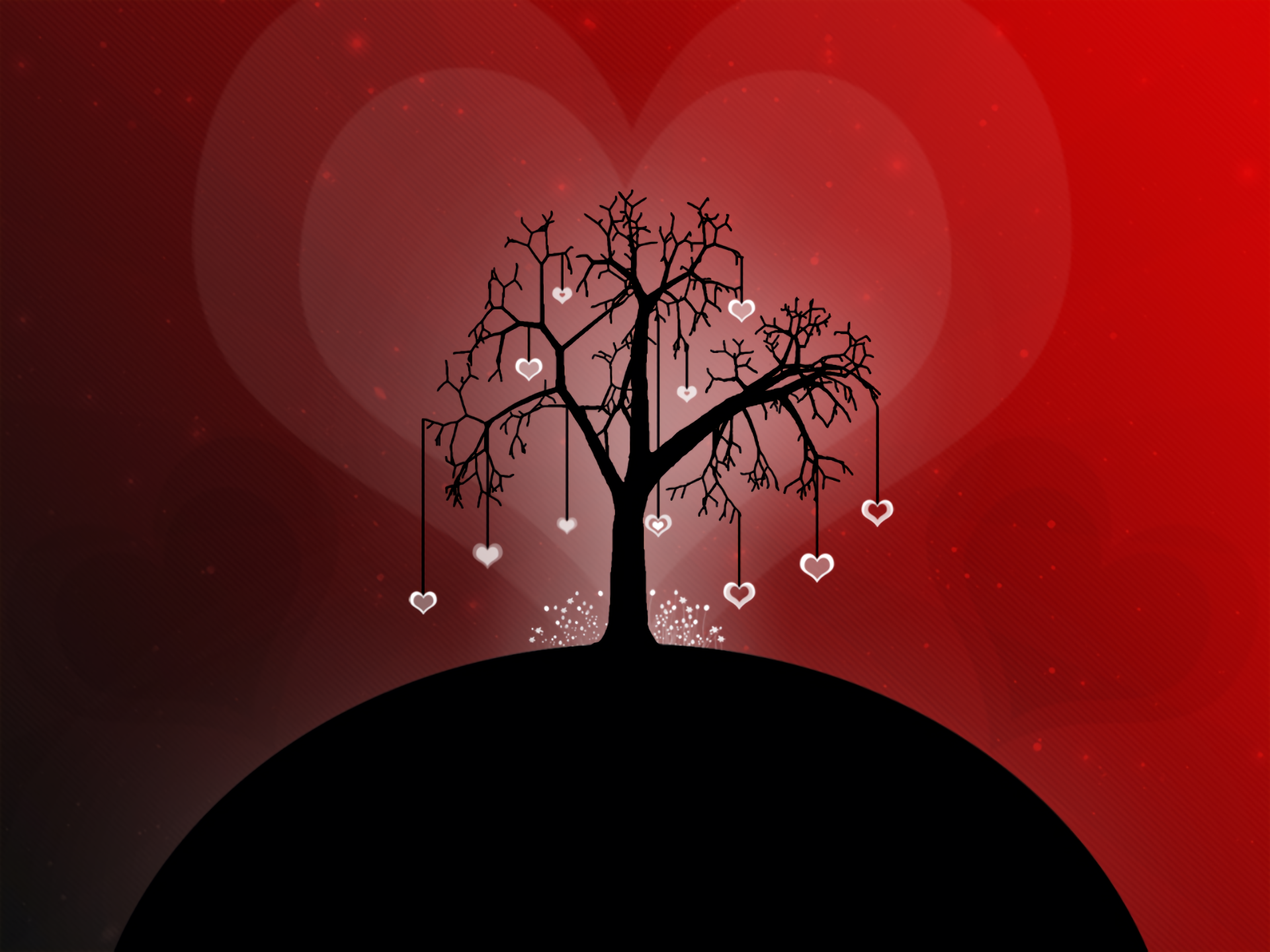 Artistic - Love  Tree Artistic Heart Wallpaper