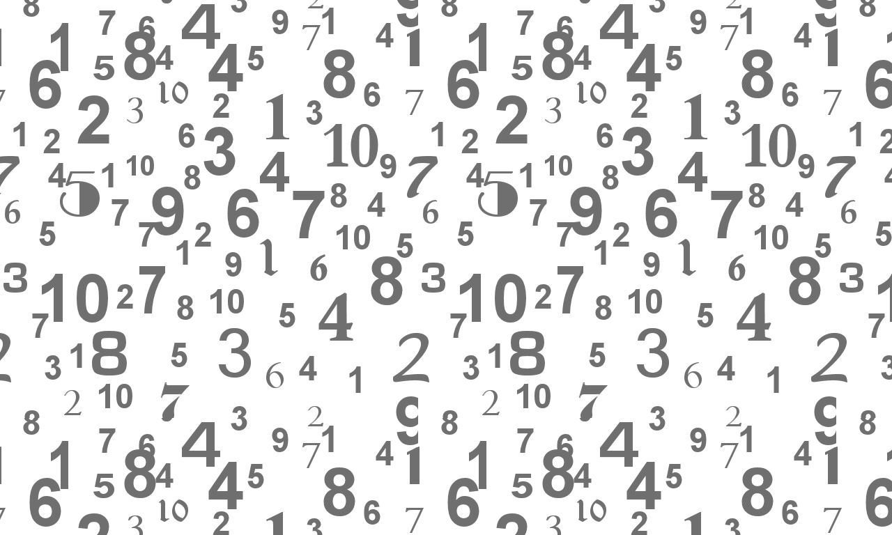 Numbers wallpaper and background image 1280x768 id 3042 - Number wallpaper ...