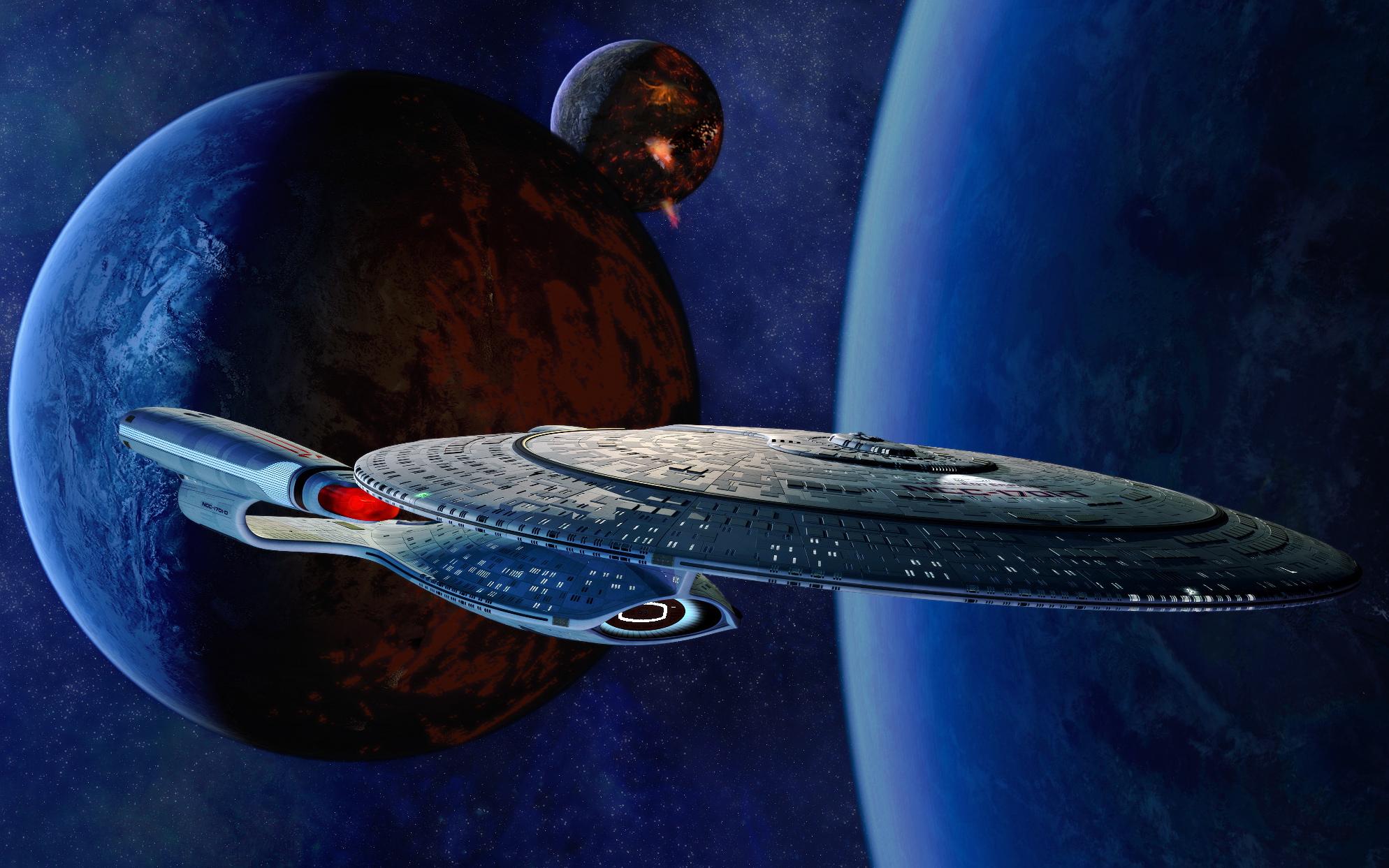Series De Televisión - Star Trek: La Nueva Generación  Ciencia Ficción Películas Viaje A Las Estrellas Enterprise (Star Trek) Barco Planeta Estrellas Oscuro Espacio Fondo de Pantalla