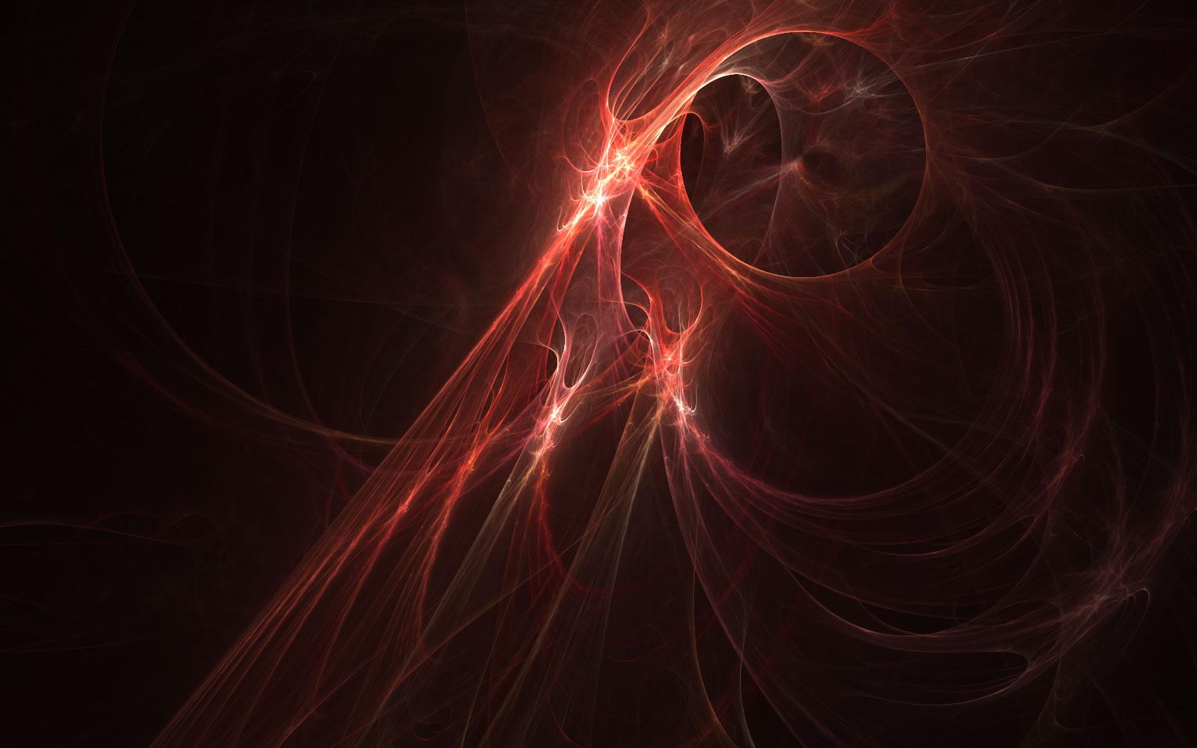 Abstract - Red  Shapes Pattern Plasma Circle Wallpaper