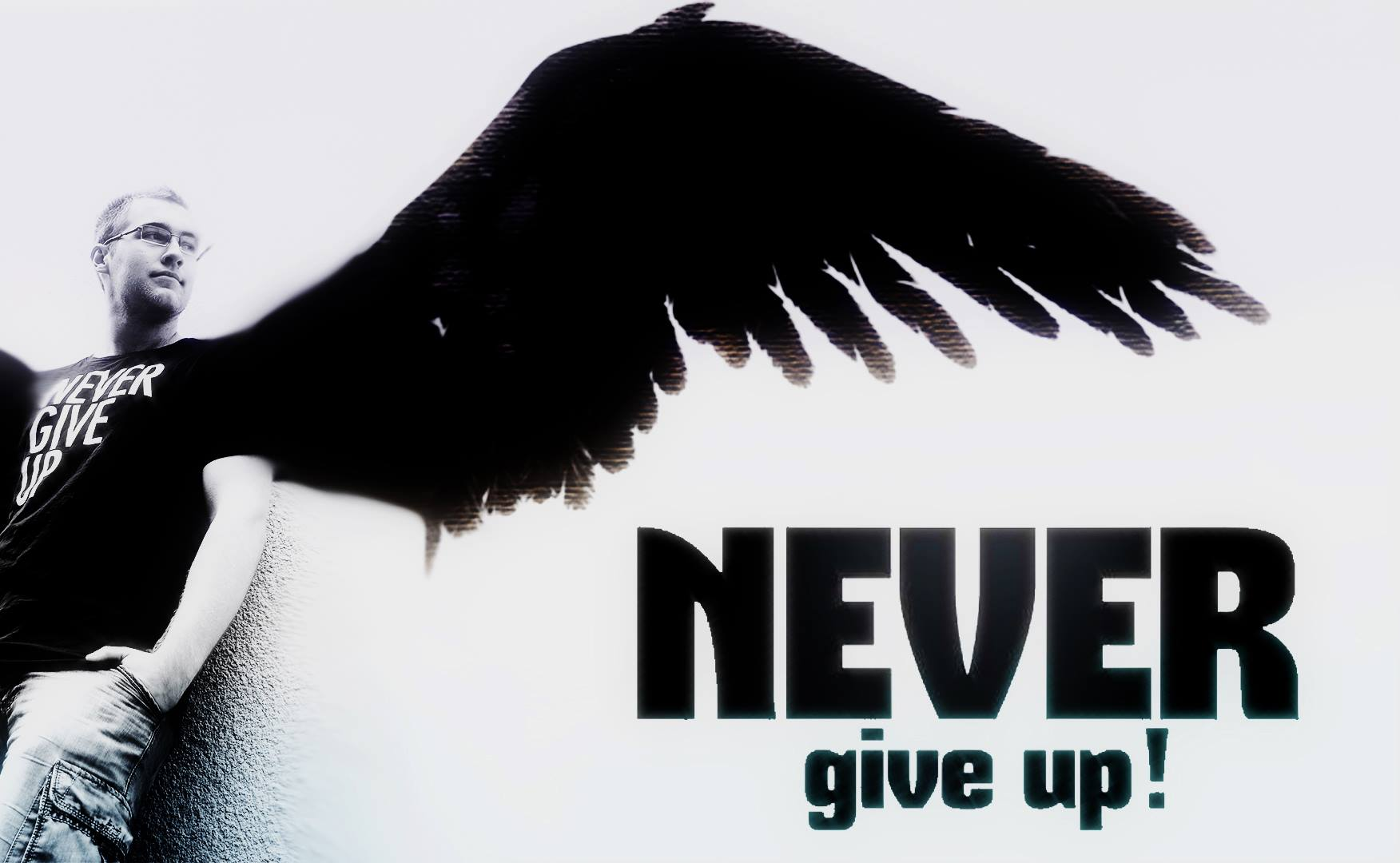 Never give up angel computer wallpapers desktop - Never give up wallpapers desktop hd ...