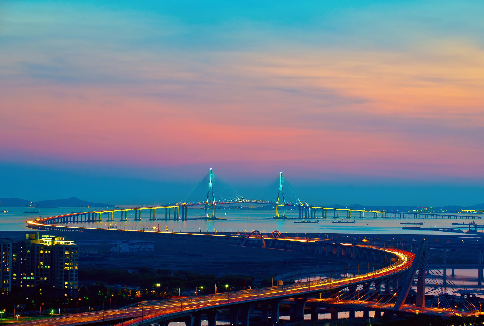 Korea Wallpaper: 2 Incheon Bridge HD Wallpapers