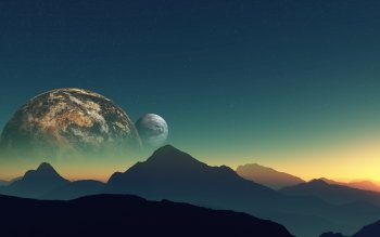Научная фантастика - Planet Rise Wallpapers and Backgrounds ID : 439562