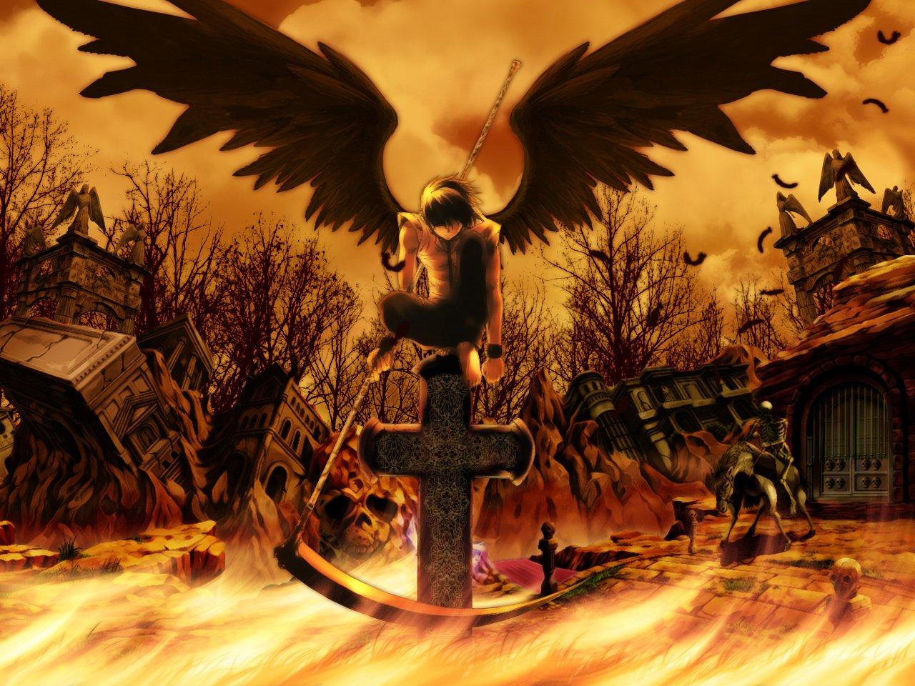 Anime - Death Note  Scythe Cross Black Angel Wallpaper
