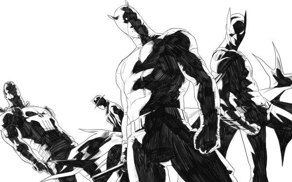 Bande-dessinées Collage Daredevil Punisher Fond d'écran HD   Image