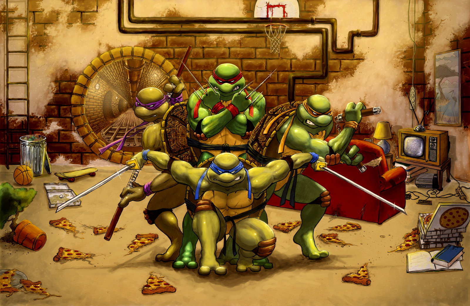 Teenage mutant ninja turtles wallpaper and background image comics tmnt michelangelo tmnt leonardo tmnt donatello tmnt raphael voltagebd Gallery