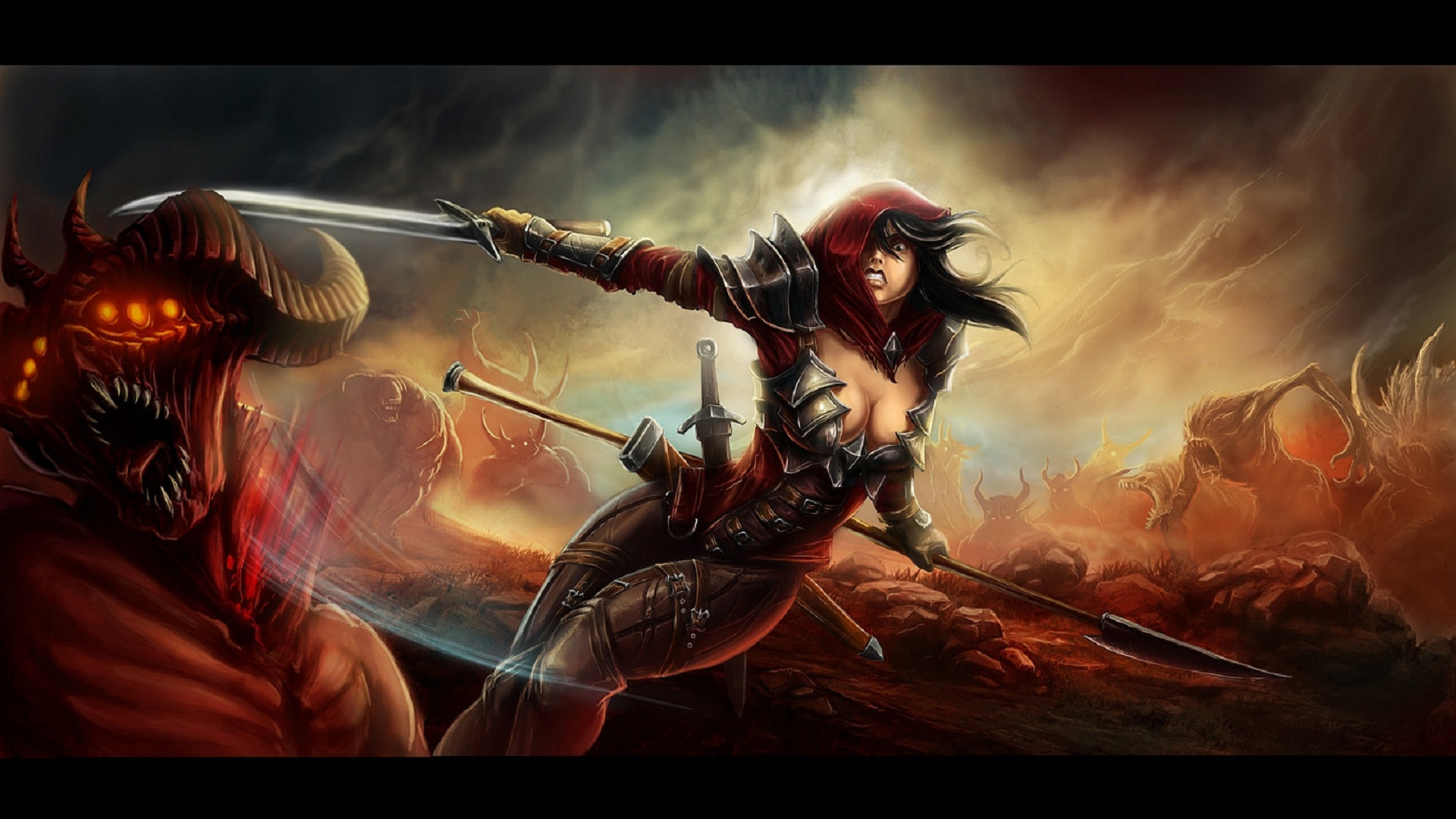 download wallpaper female warrior - photo #47