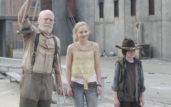 TV Show The Walking Dead Chandler Riggs Carl Grimes Scott Wilson Hershel Greene HD Wallpaper | Background Image