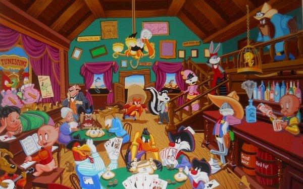TV Show Looney Tunes Bugs Bunny Daffy Duck Sylvester Tweety Yosemite Sam Porky Pig Wile E. Coyote Elmer Fudd HD Wallpaper | Background Image
