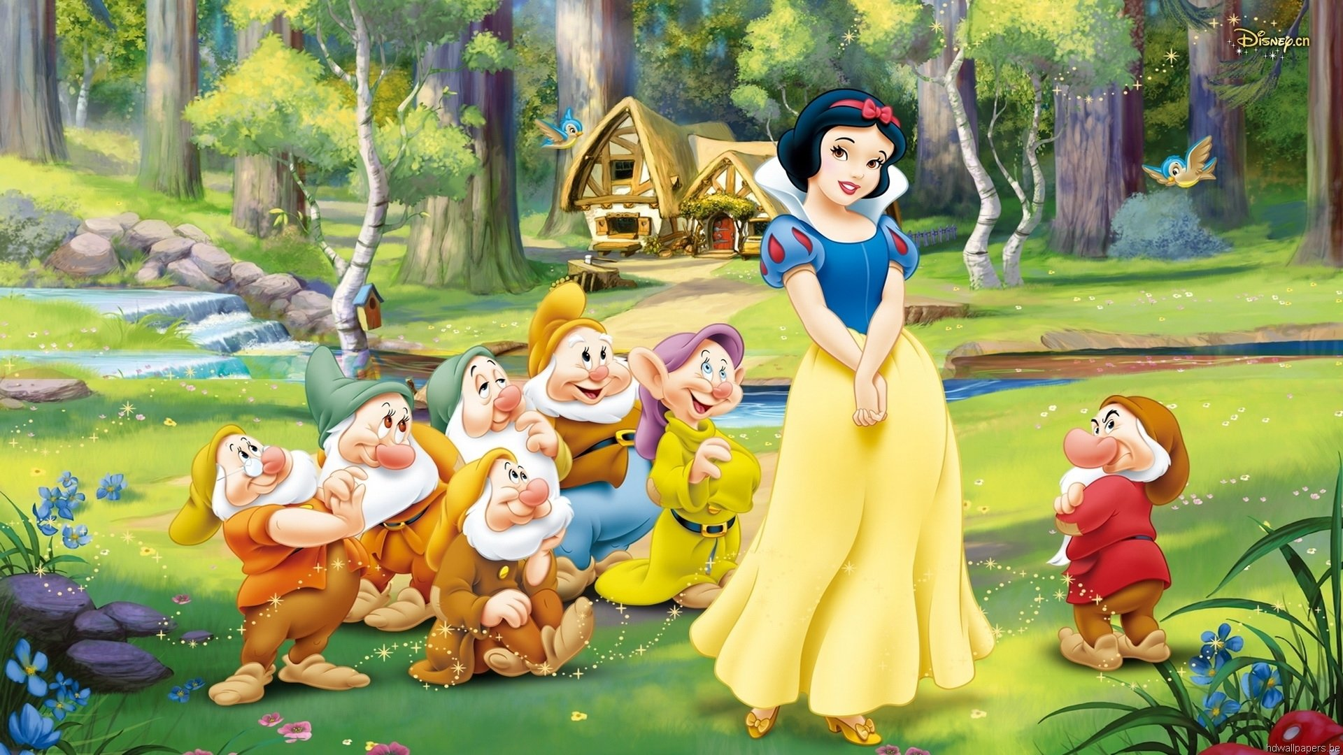 Snow White And The Seven Dwarfs Fondo De Pantalla Hd Fondo