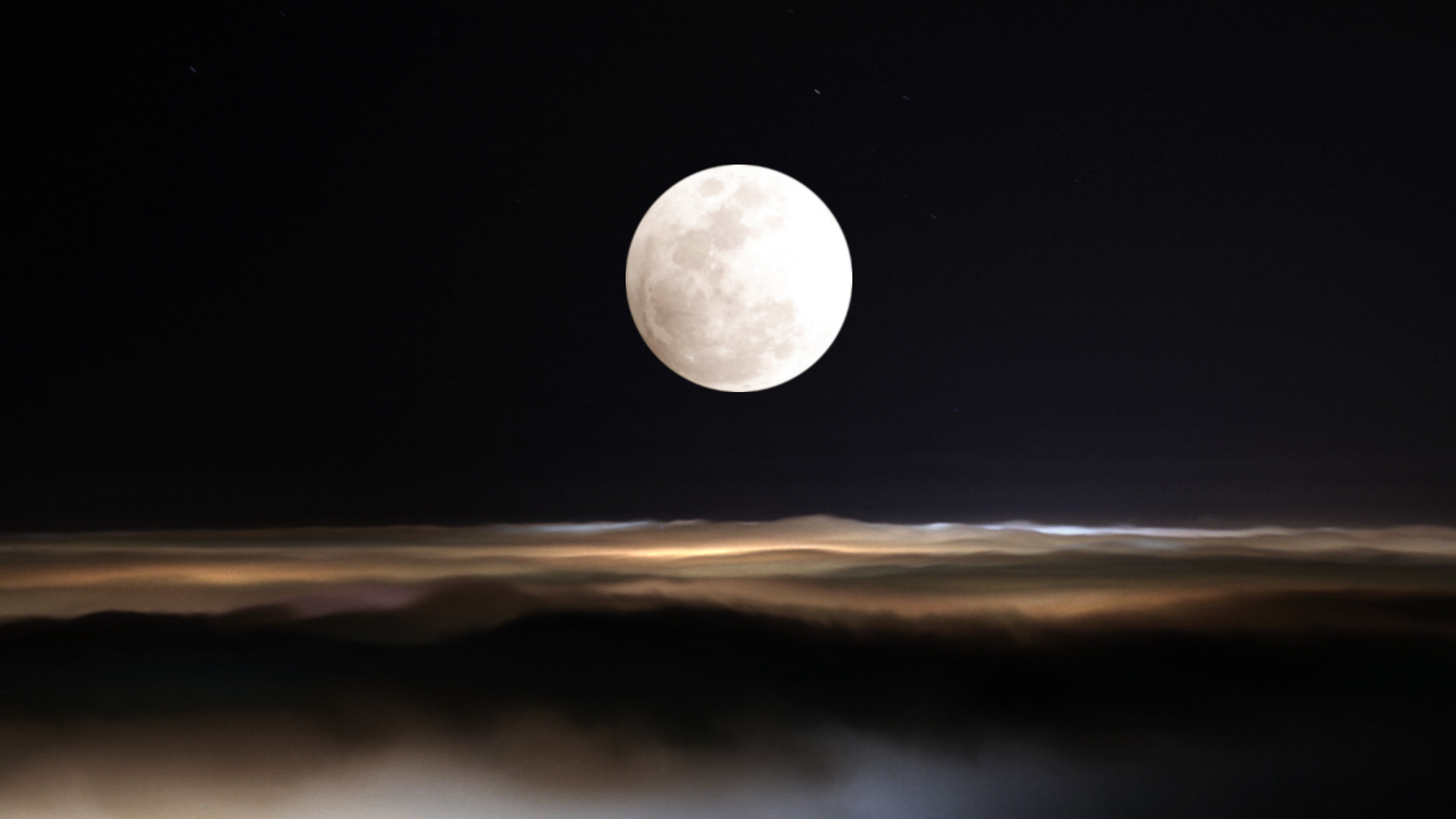 Full Moon Night HD Wallpaper And Background Image