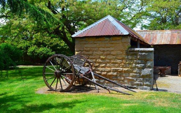 Man Made Eskbank House Building Lithgow Cart Australia HD Wallpaper | Background Image