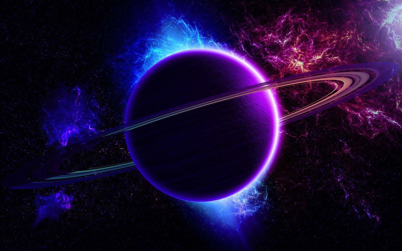 Ringed planet wallpaper - 1103328
