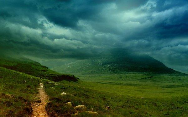 Tierra/Naturaleza Paisaje Camino Nube Hill Fondo de pantalla HD | Fondo de Escritorio