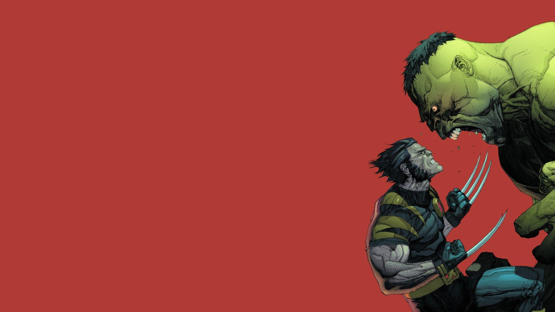 漫画 - 金刚狼  绿巨人 壁纸