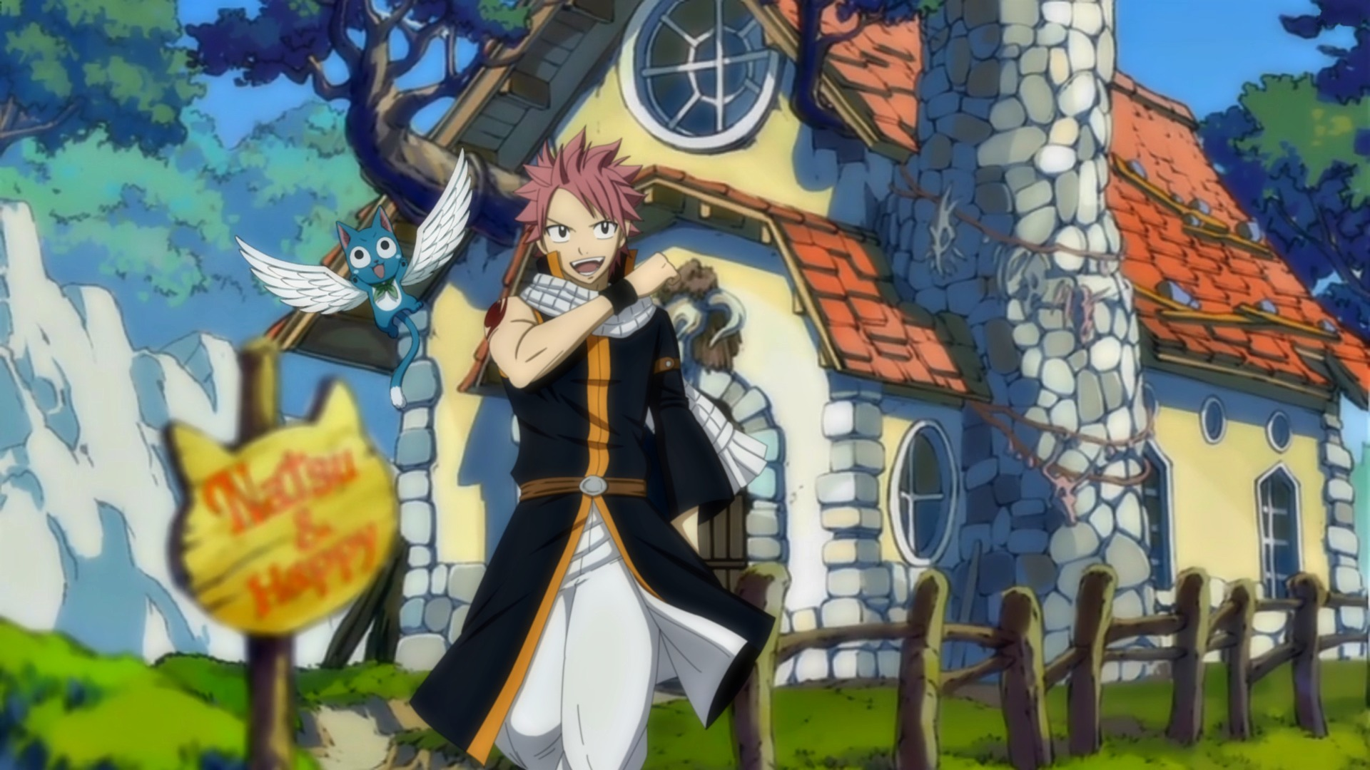 happy amp natsu full hd wallpaper and background image