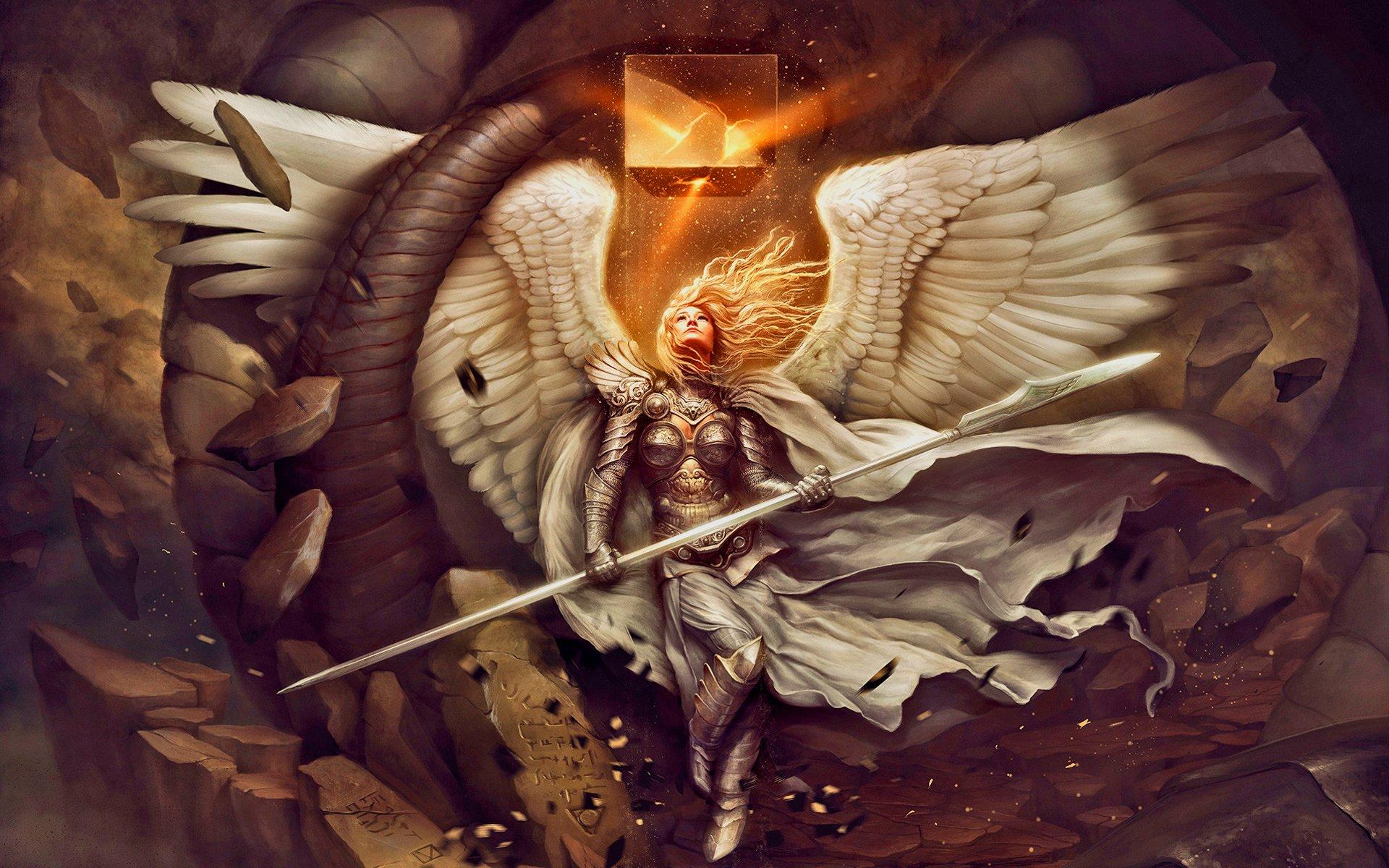 Fantasy - Angel Warrior  Wallpaper