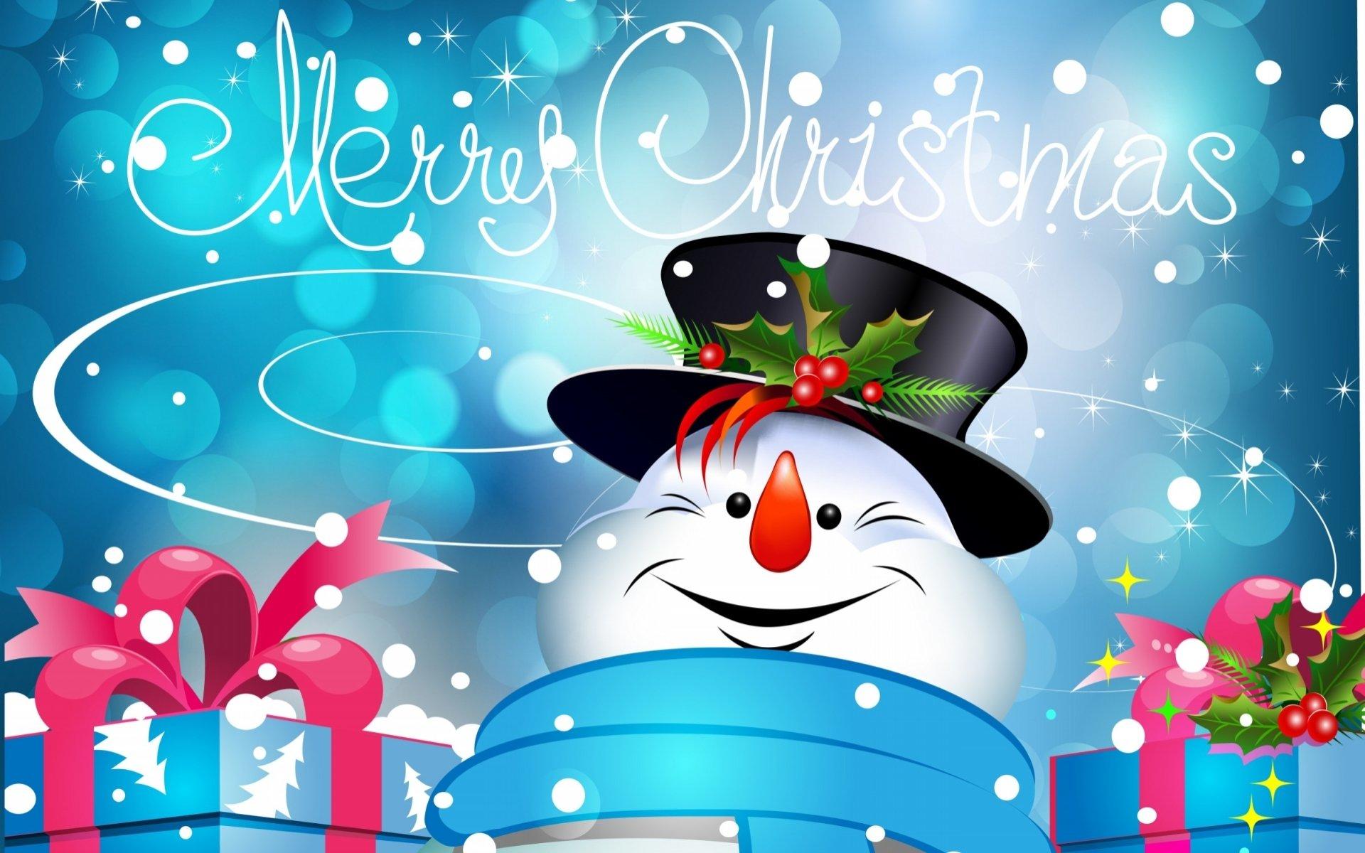 Holiday - Christmas  Merry Christmas Snowman Wallpaper