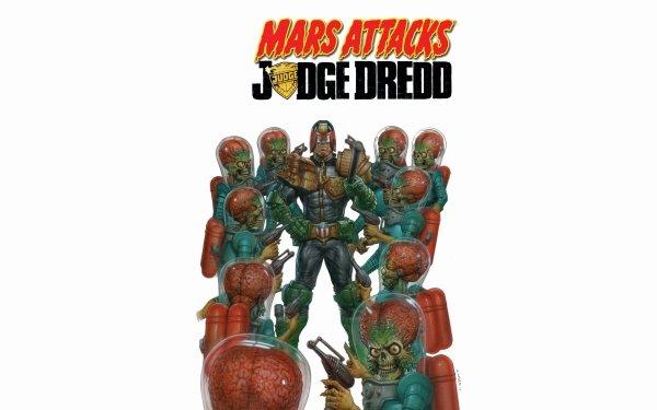 Comics Mars Attacks Judge Dredd Judge Dredd Dredd HD Wallpaper | Background Image