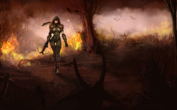 117 demon hunter diablo iii hd wallpapers background images