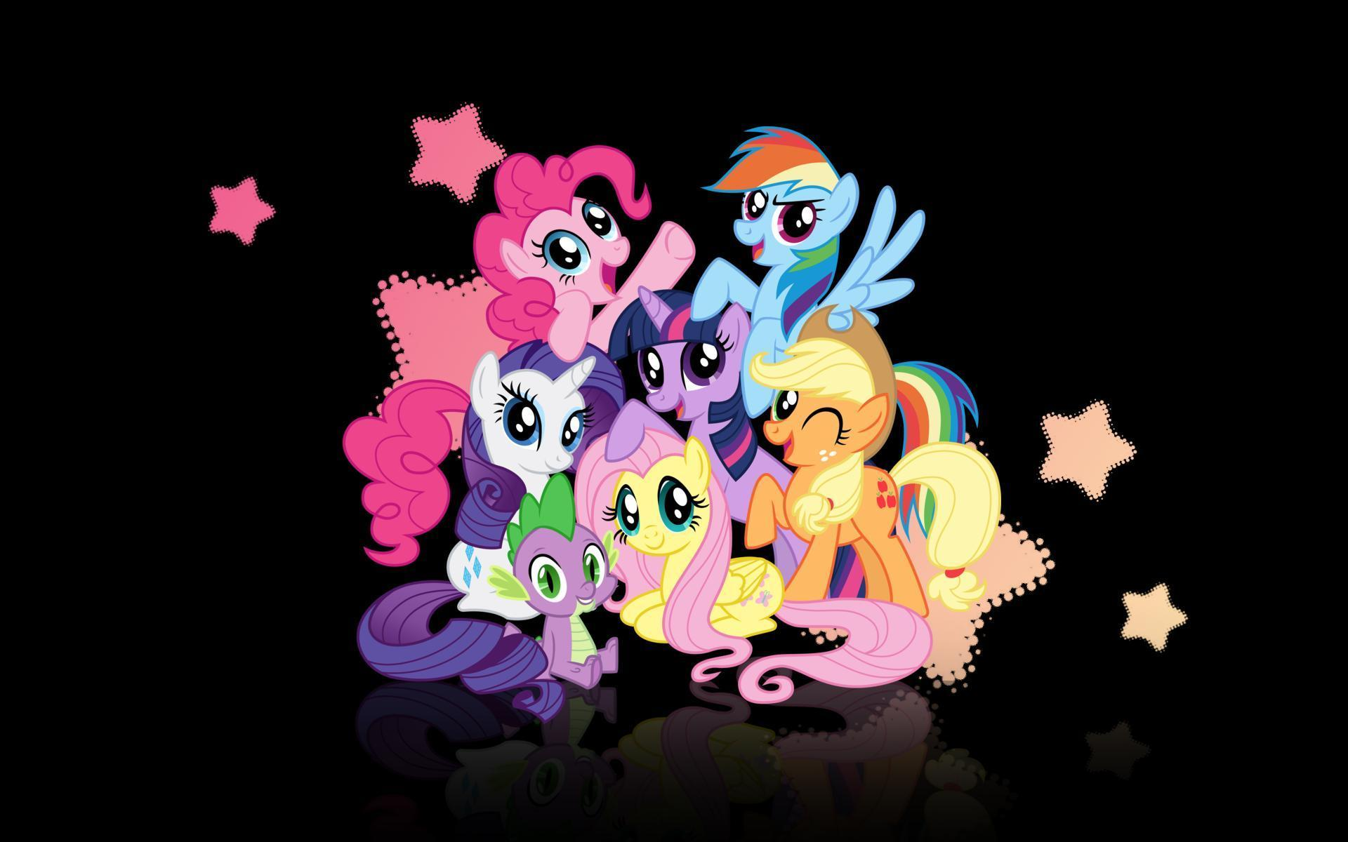 Обои картинки фото my little pony, rainbow dash, rarity, twilight sparkle, pinky pie.