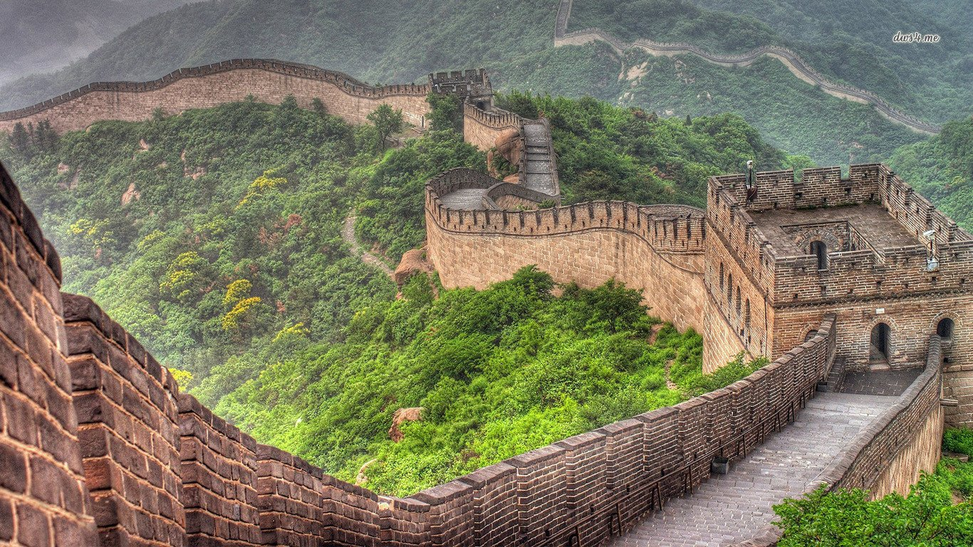 Great Wall Of China Wallpaper And Background Image 1366x768 Id