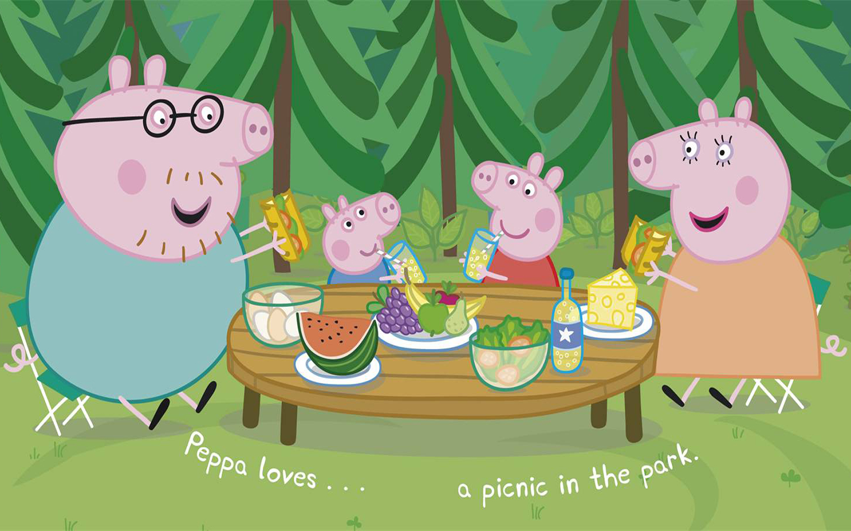 Peppa pig fond d 39 cran and arri re plan 1680x1050 id - Peppa pig telecharger ...
