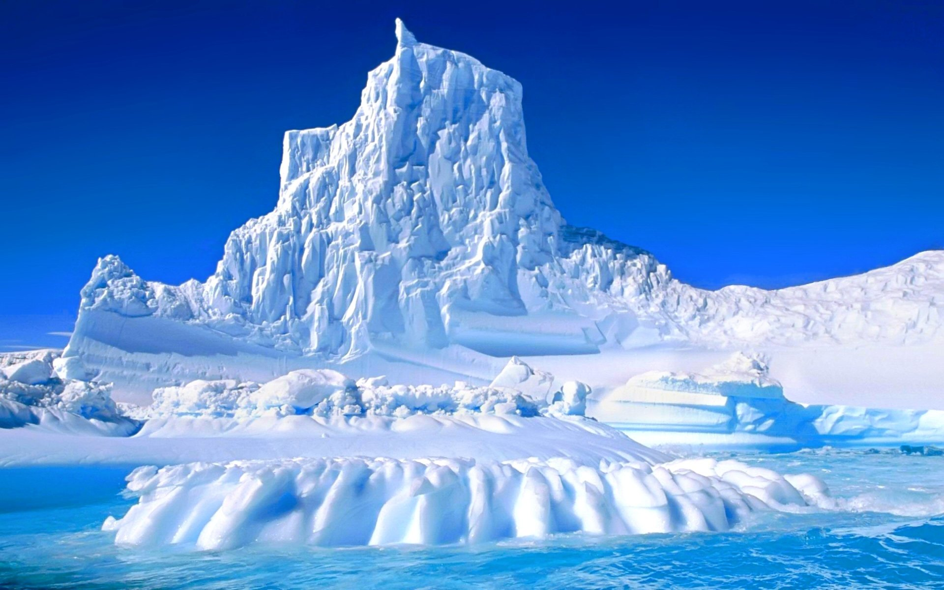 Earth - Winter  Ice Glacier Iceberg Nature Wallpaper