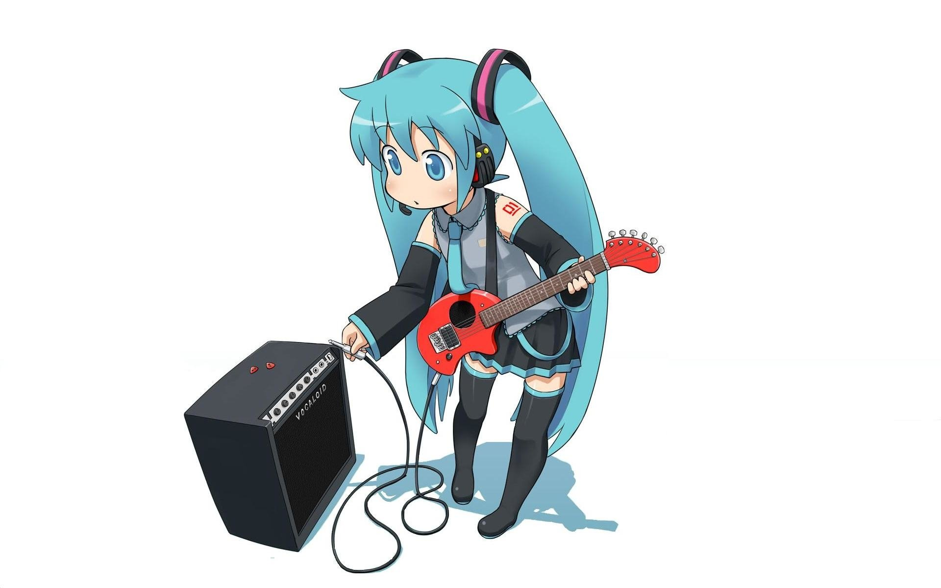 Anime - Vocaloid  Hatsune Miku Guitar Wallpaper