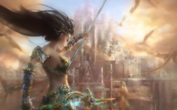Fantasy - Women Warrior Wallpapers and Backgrounds ID : 486564