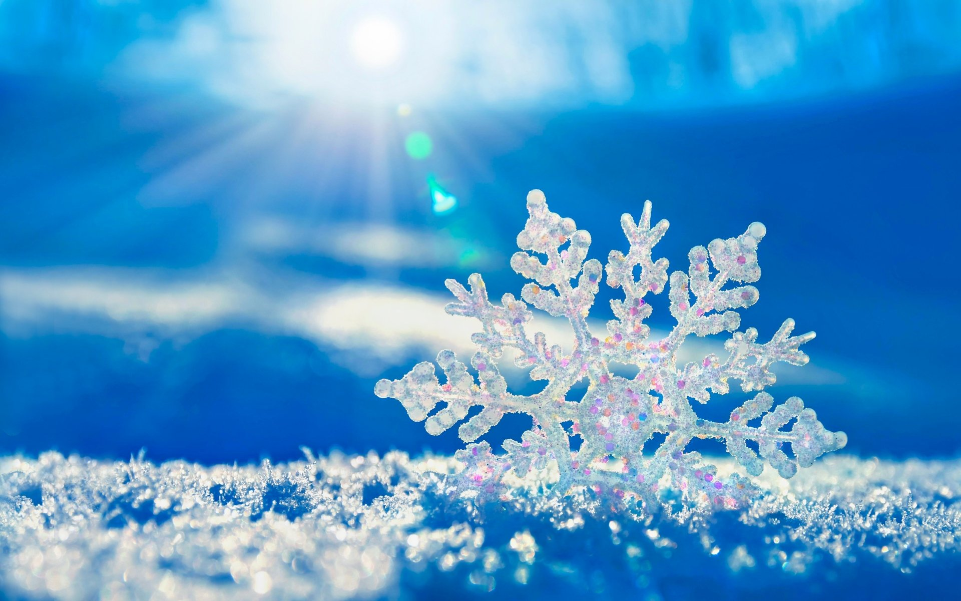 Earth - Winter  Snowflake Snow Nature Wallpaper