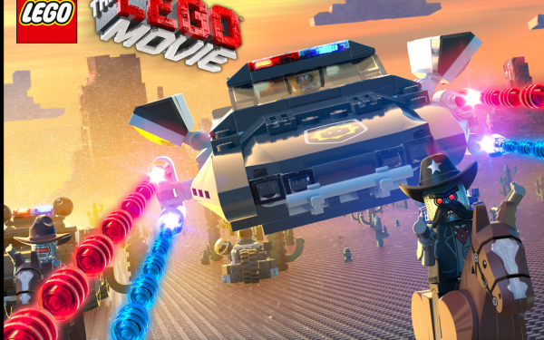Movie The Lego Movie Lego Robot Cop Text Logo HD Wallpaper   Background Image