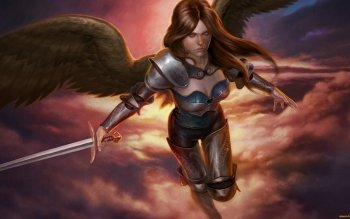 Fantasy - Angel Warrior Wallpapers and Backgrounds ID : 493112