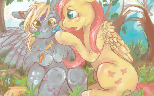 TV Show My Little Pony: Friendship is Magic My Little Pony Fluttershy Derpy Hooves HD Wallpaper | Background Image